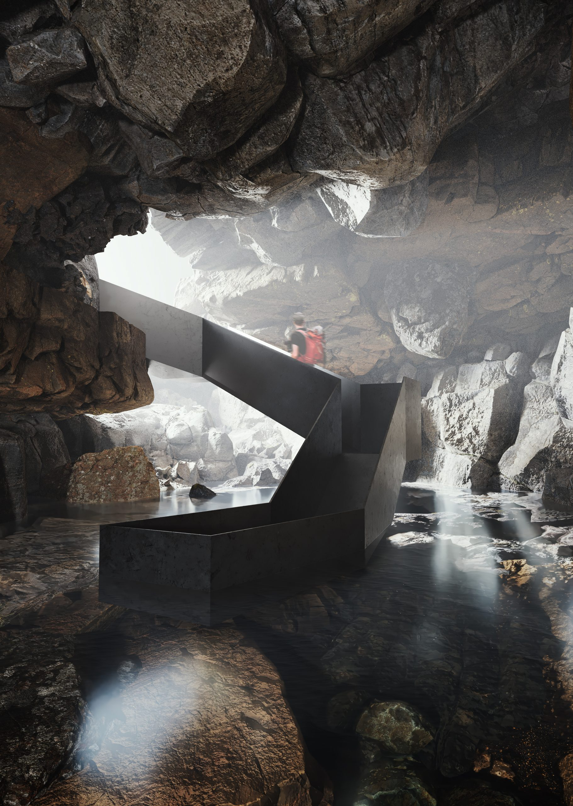 Cave Tower Iceland